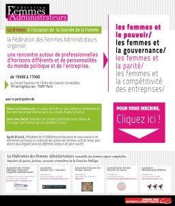 8 mars : Agnès Bricard invite 150 femmes chefs d'entreprises à une rencontre sur la place des femmes dans le monde politique et entrepreneurial dans Evénementiels invitation_8mars2013b-256x300